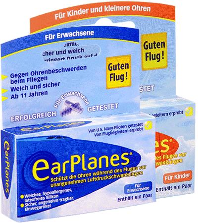 Earplanes Ohrstöpsel gegen Schmerzen beim Fliegen